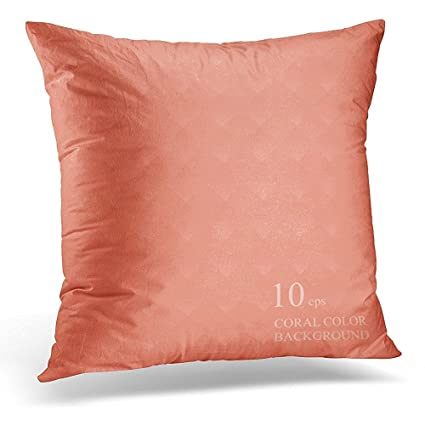 Amazon Throw Pillow Cover Pink Color Coral With Geometric Road Interesting Coral Colored Decorative Pillows