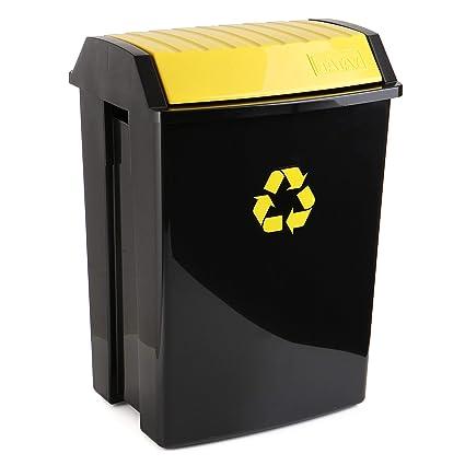 TATAY 1102302 - Contenedor de Reciclaje para envases y plástico, Capacidad para 50 litros,