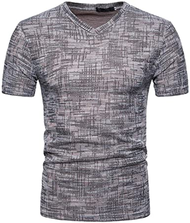Camiseta para Hombre, Sudadera con Capucha y Cuello en V para Hombre de Verano SOID Casual Top Blusa: Amazon.es: Ropa y accesorios