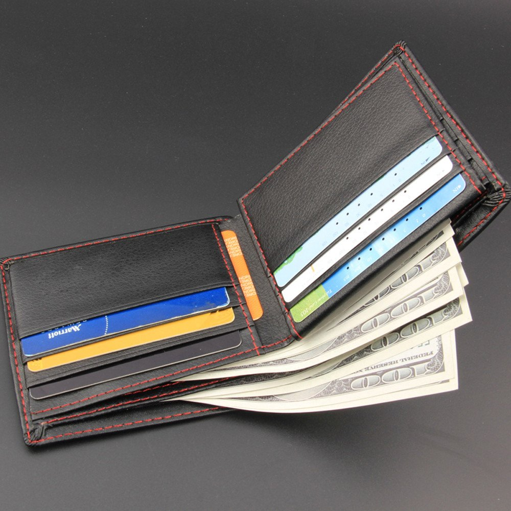 Longay Men Bifold Business Leather Wallet ID Credit Card Holder Purse Pockets