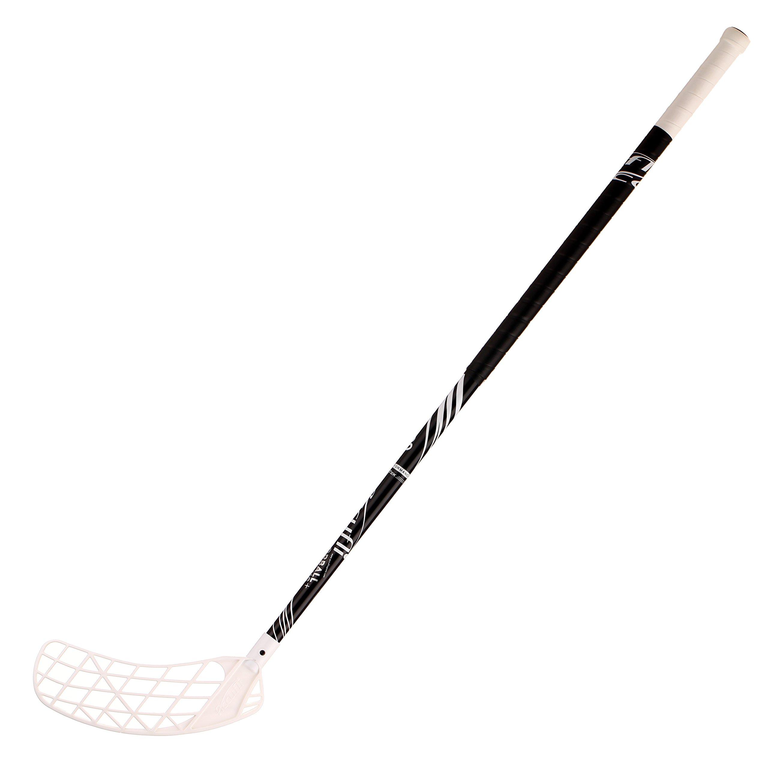 ACCUFLI Floorball Stick AirTek A90 Left 40inch Curved Blade (White)