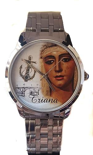 Reloj Con La Imagen De La Virgen De La Esperanza De Triana De