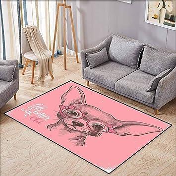 Tapis Pour Chambre à Coucher Motif Chihuahua Illustration