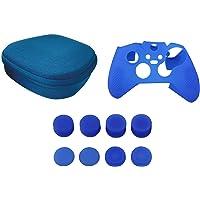 Total México Gadgets Estuche y Accesorios para Control Xbox One Kit Funda Protectora y Grips (8pcs) (Azul)