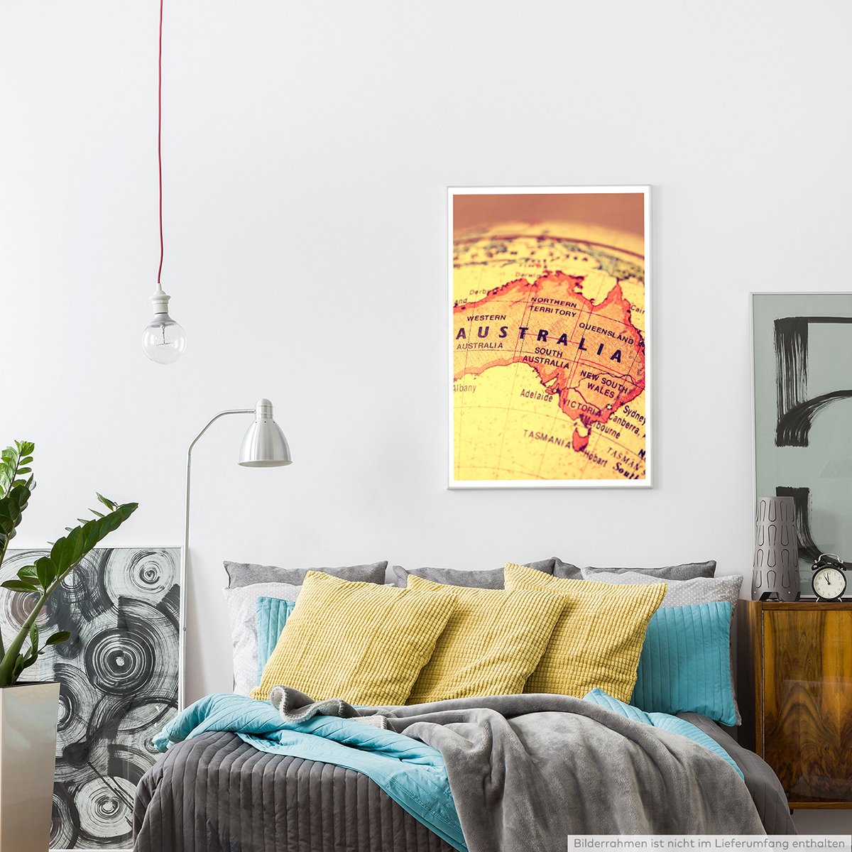 Eau Zone Home Bild - Art Fotos – Australien auf Einem Globus- Poster ...