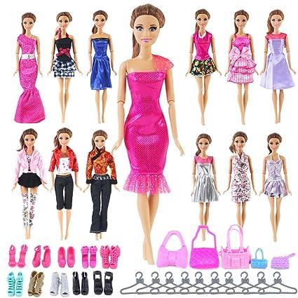 Amazon Com Ucanaan 35 Pcs Doll Accessories For Barbie Include