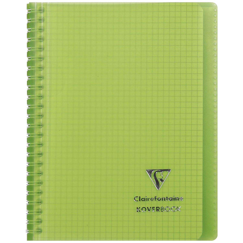 Clairefontaine 366701C Koverbook mit Spiralbindung 1 St/ück DIN A5 liniert 80 Blatt Deckel aus PP farbig sortiert