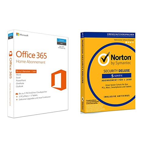 Microsoft Office 365 Home 5 Geräte Symantec Norton Security