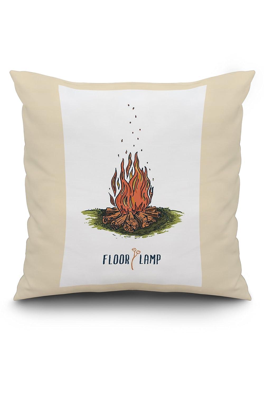 キャンプファイヤー – 床ランプ – キャッチフレーズ 20 x 20 Pillow (Natural Border) LANT-3P-PW-NL-77924-20x20 20 x 20 Pillow (Natural Border)  B01MXRBG59