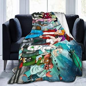 "Shooky D Futur-AMA Ultra Soft Flannel Fleece Throw Blanket Light Weight Warm Blanket Living Room Decor 50"""" x40"