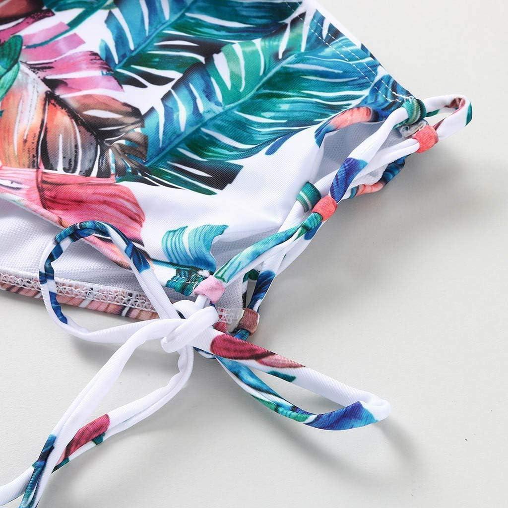 2020 Women Swimwear Falbala High-waist Bikini Set Push-Up Swimsuit Bathing suit