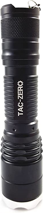 2-Pack Tac-Zero 800 Lumen LED Flashlight With Charger And Rechargeable Battery