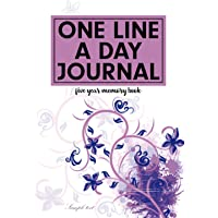 Image for One Line A Day Journal Five Year Memory Book: Blank Journal for Memories Daily Inspiration and Thoughts Writing Journal Floral Cover