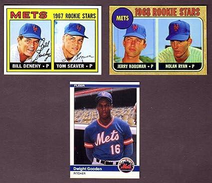 New York Mets Topps Baseball 3 Card Reprint Rookie Lot W Original