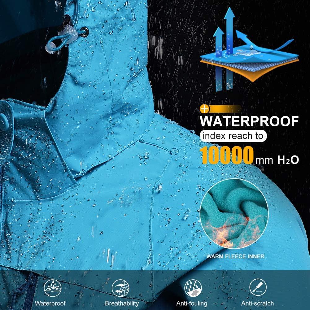 CAMEL CROWN Womens Waterproof Ski Jacket 3-in-1 Winter Coat Windbreaker Fleece Inner for Snow Rain Hiking Outdoor