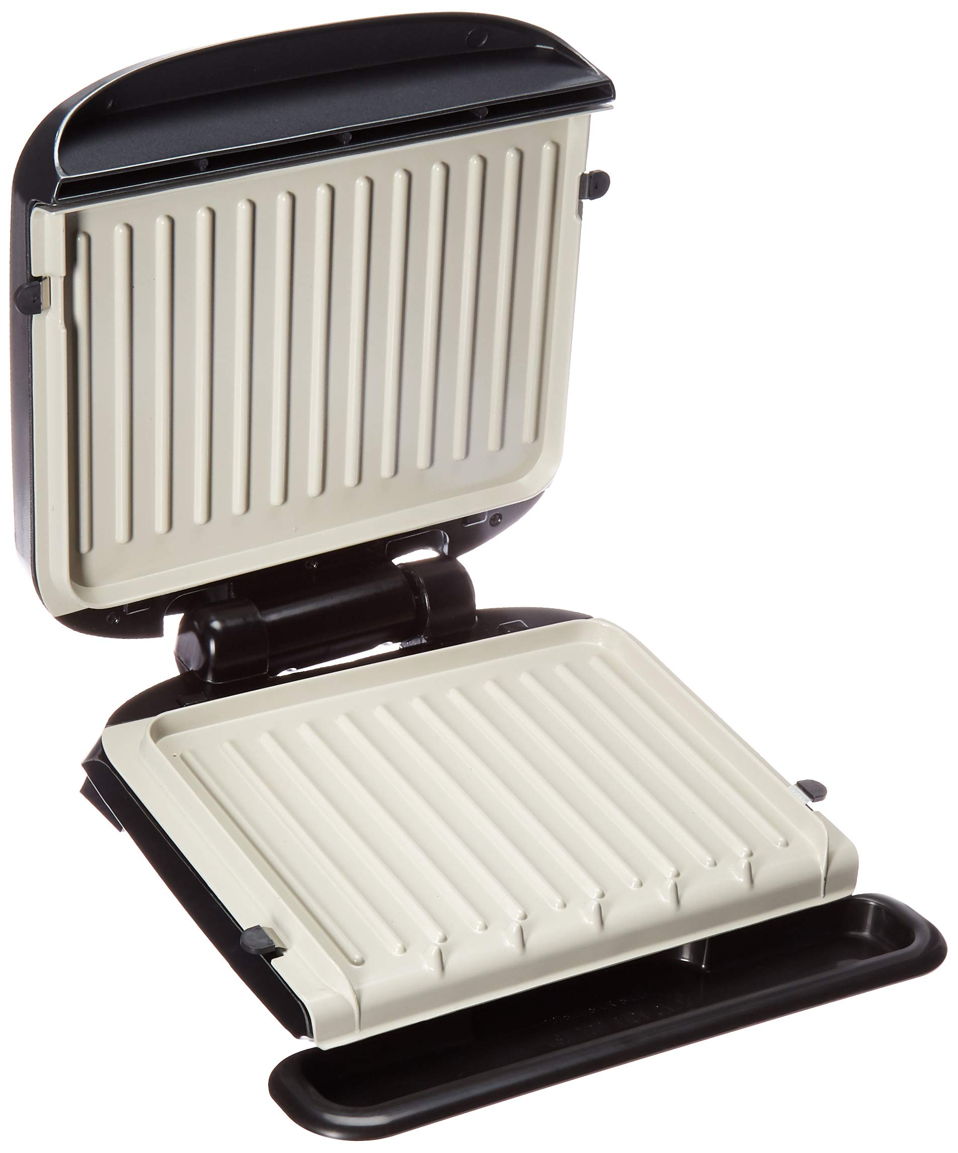 George Foreman GRP3260GM 4-Serving Removable Plate & Panini Digital Temperature-Black Indoor Electric Grill, 100 Square Inch, Silver by George Foreman