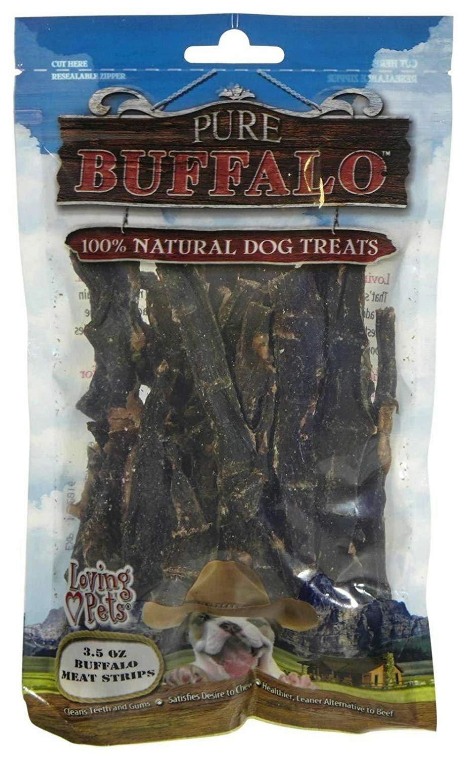Loving Pets Pure Buffalo Meat Jerky Strips Dog Chews, 3.5 Ounce, 24 Pack by Loving Pets (Image #1)