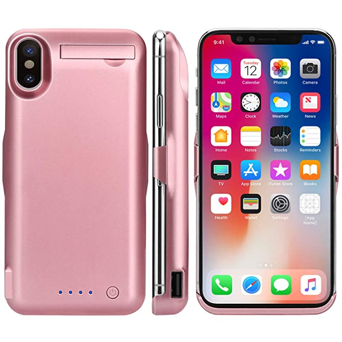 size 40 88f70 2079c iPhone X Battery Case,Epuirie 10000mAh Rechargeable Power Charging Case for  iPhone X(5.8 inch) Extended Battery Pack Protective Charger ...