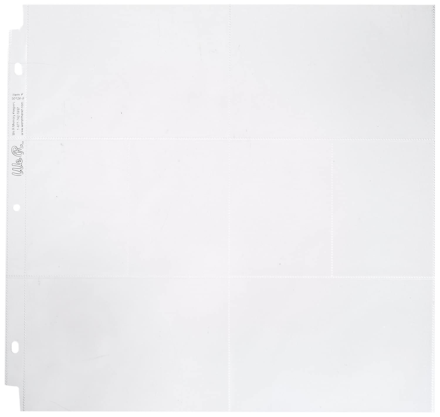 We R Memory Keepers WR50126 Albums and Refills Ring Photo Sleeve 12-Inch X 12-Inch 10 Pkg-4 (6X4) and 4 (3X4) Pockets 50126-8