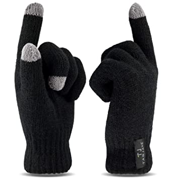 625ca66e349f13 Thermo Handschuhe mit Touchscreen Funktion Screen Gloves extra warm TOG 1.9  Schwarz S/M