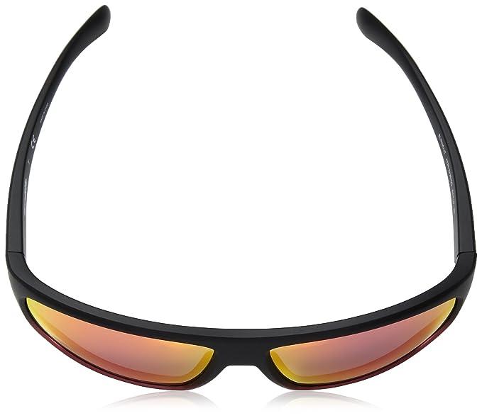 Arnette Mens Burnout Rectangular Sunglasses, Black Grad Shot Red, 64 mm