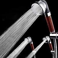 دش بنظام تنقية مياه يساعد على تقليل تساقط الشعر رأس دش محمول بفلتر أيوني سالب، موفر للمياه في المنتجعات الصحية، مزود…
