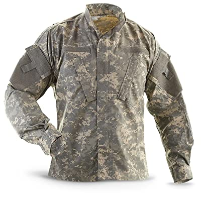 Military Outdoor Clothing Previously Issued ACU Jacket: Sports & Outdoors