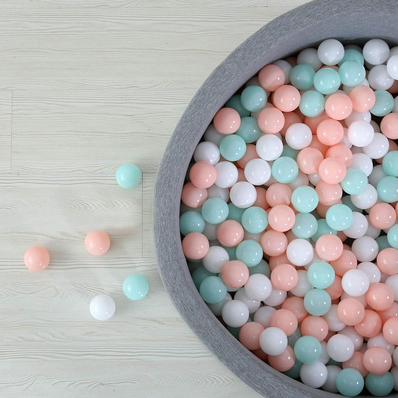Pink GOGOSO Kids Ball Pit Balls Plastic Balls BPA Free for Kids Toddles Girls Club Panel Playpen Playhouse