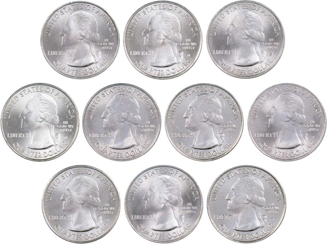 2015 S /& Proofs 25C Boombay Hook National Parks ATB Quarter Set Uncirculated