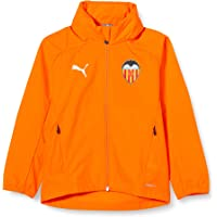 PUMA Valencia Cf Temporada 2020/21 - Rain Jacket Jr Vibrant Orange Chaqueta Niños
