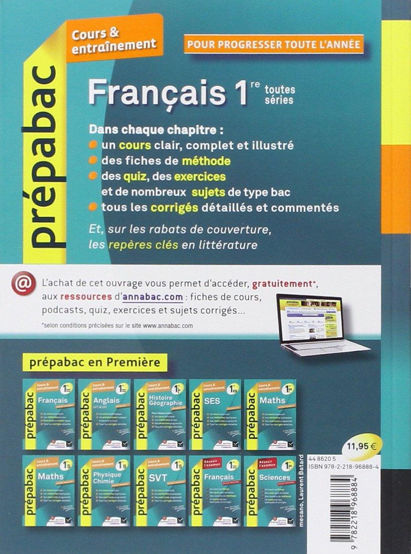 Prepabac Cours Et Entrainement: Francais 1e Toutes Series (French Edition): 9782218968884: Amazon.com: Books