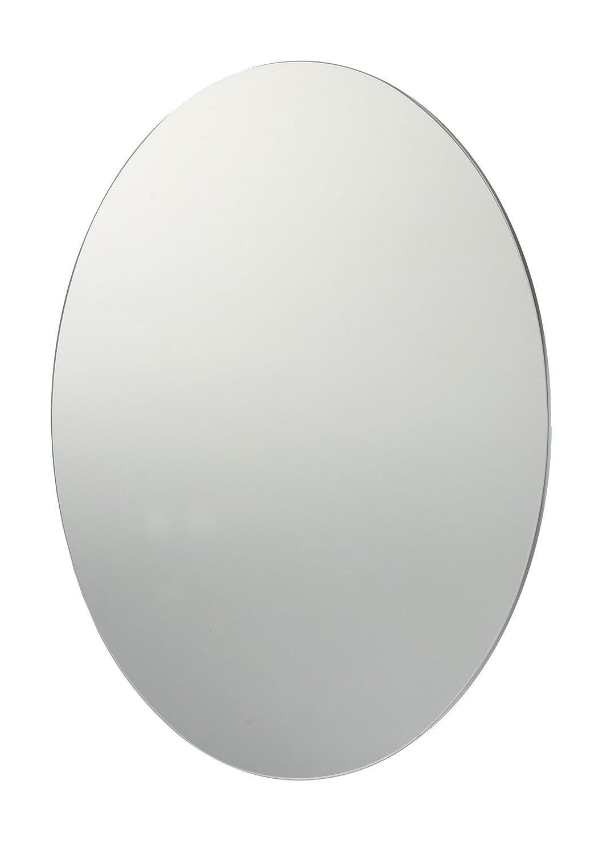 60 x 45 cm Plain sin Marco para baño espejo ovalado y fijaciones ...
