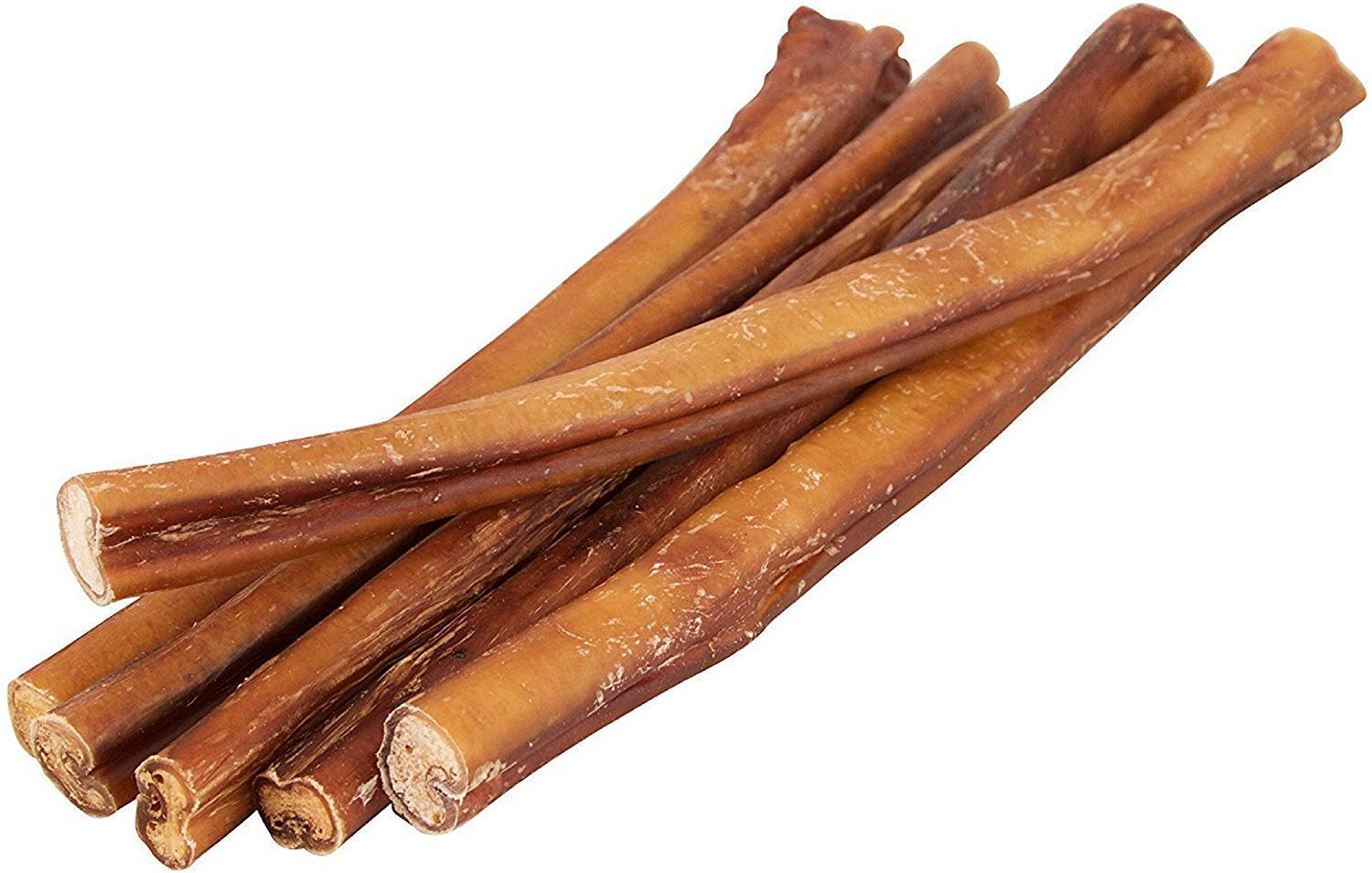 12'' Straight Bully Sticks for Dogs [Large Thickness] (10 Pack) - All Natural & Odorless Bully Bones | Long Lasting Chew Dental Treats | Best Thick Bullie Sticks for K9 or Puppies | Grass-Fed Beef by Pawstruck