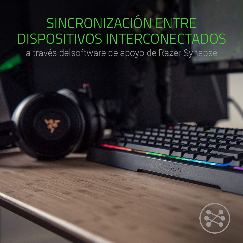 Razer Ornata Chroma Teclado Gaming, Estándar con USB, Alámbrico, Interruptor de Membrana,Teclas de Membrana, ES Layout, Color Negro