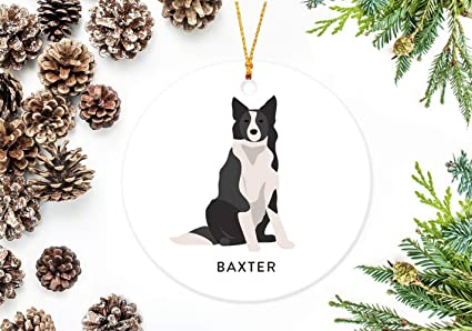Amazon Com Border Collie Ornament Personalized Christmas Ornament