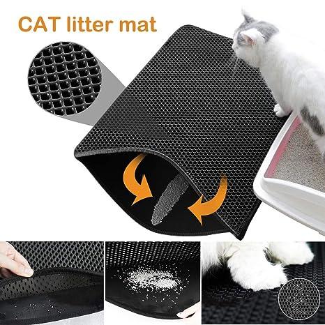 Roblue - Alfombra de Arena para Gatos limpios e higiénicos - Alfombrilla Impermeable al Agua para Gatos - XS-XL
