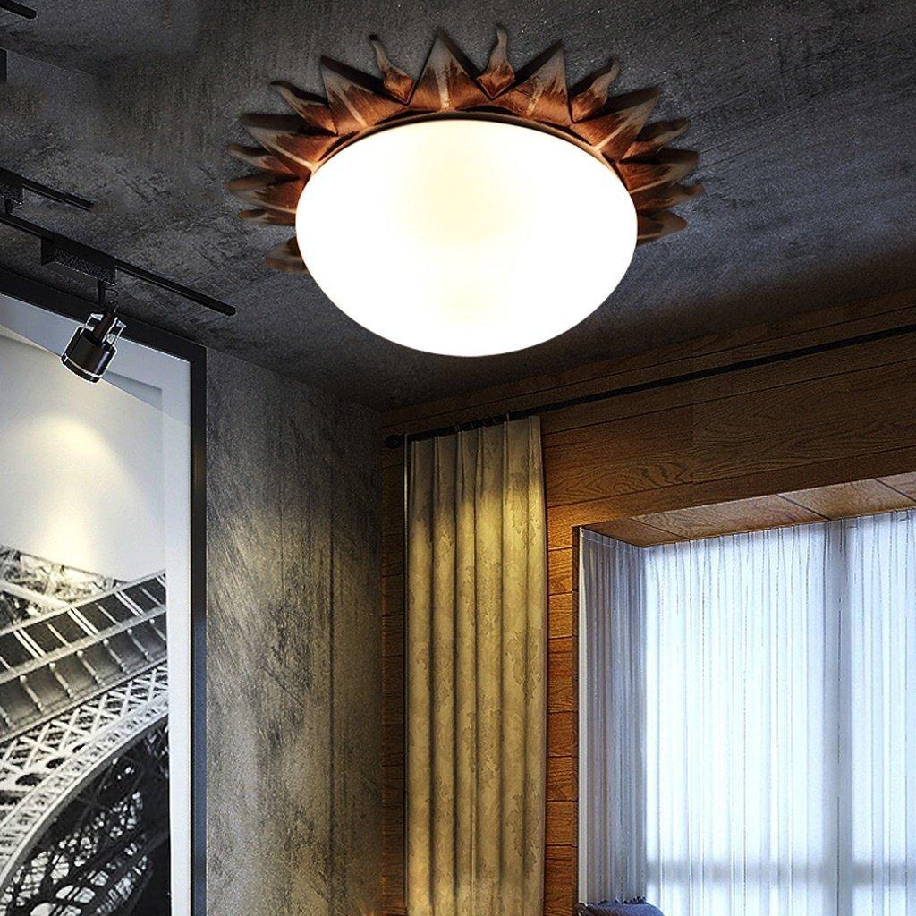 Ktyx SXKT. American retro solar resin ceiling lamp bedroom living room restaurant bar entrance aisle Roman lamps Ceiling lamp