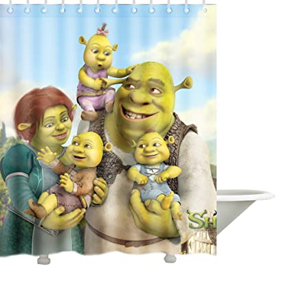 Andersonfgytyh Contracted Shrek Hot Saale Series Bath Polyester Fabric Shower Curtain 66 By 72 Inch Amazonca Home Kitchen