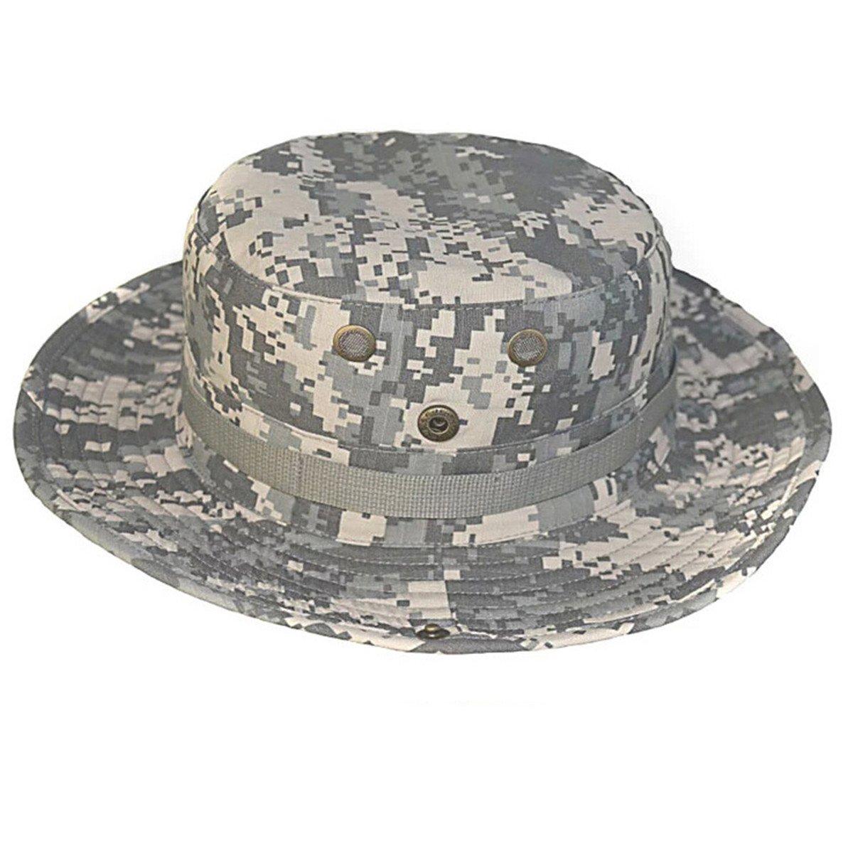 ECYC Camouflage Versteckter Dschungel Hut Multifunktionale Angeln Caps Abgerundete Kanten Sonnenschutz