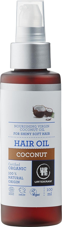 Urtekram Aceite cabello de Coco BIO, cabello suave y brillante, 100ml