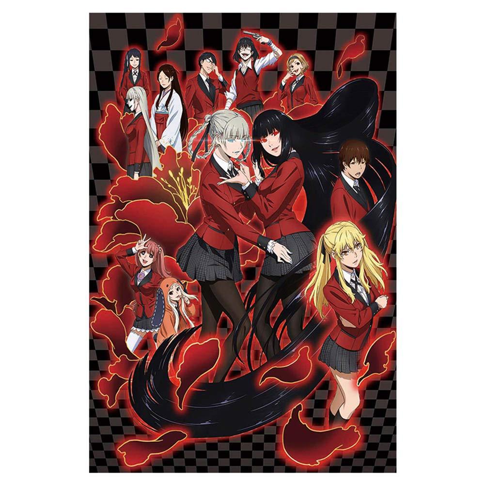 Teblacker Anime Kakegurui Poster,Japan Manga Art Print Scroll Poster for Room Wall Decor(M Style1)