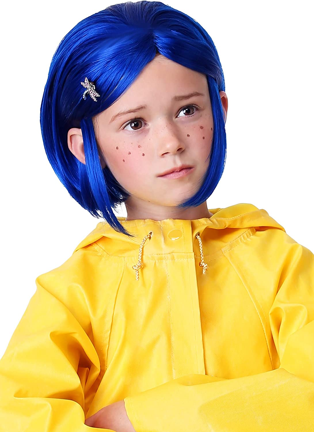 Amazon Com Kids Coraline Blue Wig For Girls Coraline Costume Standard Toys Games