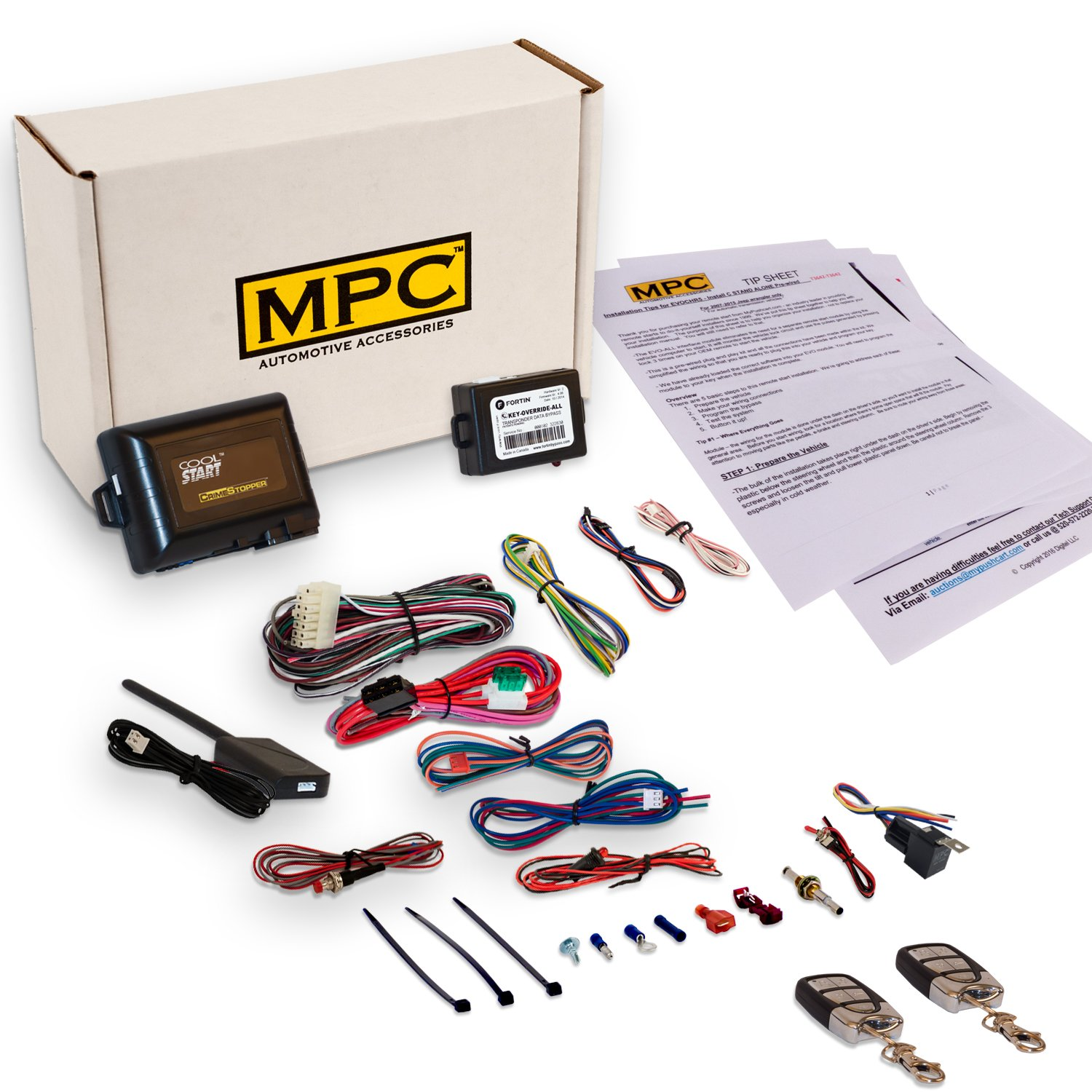 MPC Complete 5-Button Remote Start Kit with Keyless Entry for 2005-2012 Toyota Avalon - Includes Bypass - Firmware Preloaded