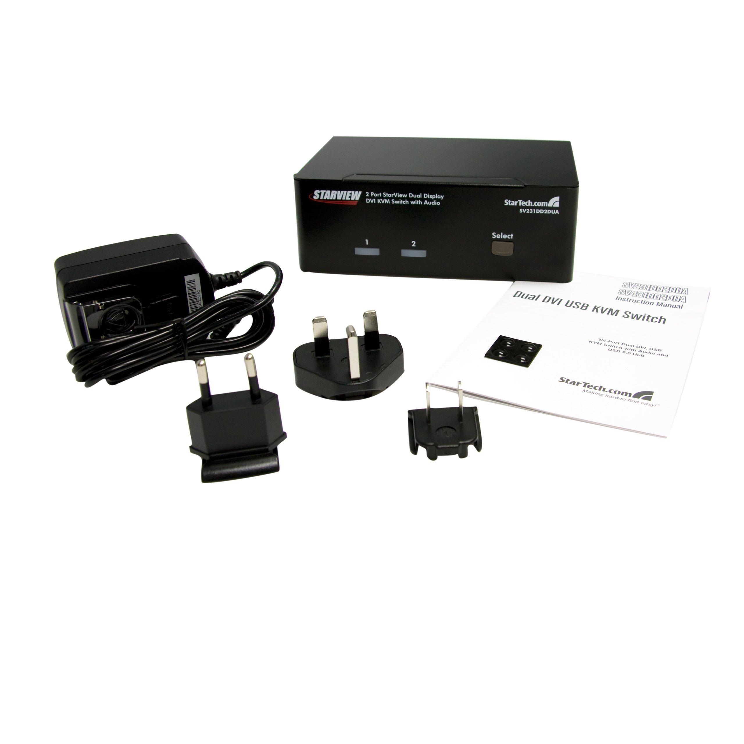 StarTech.com 2 Port Dual DVI USB KVM Switch with Audio and USB 2.0 Hub (SV231DD2DUA) by StarTech (Image #4)