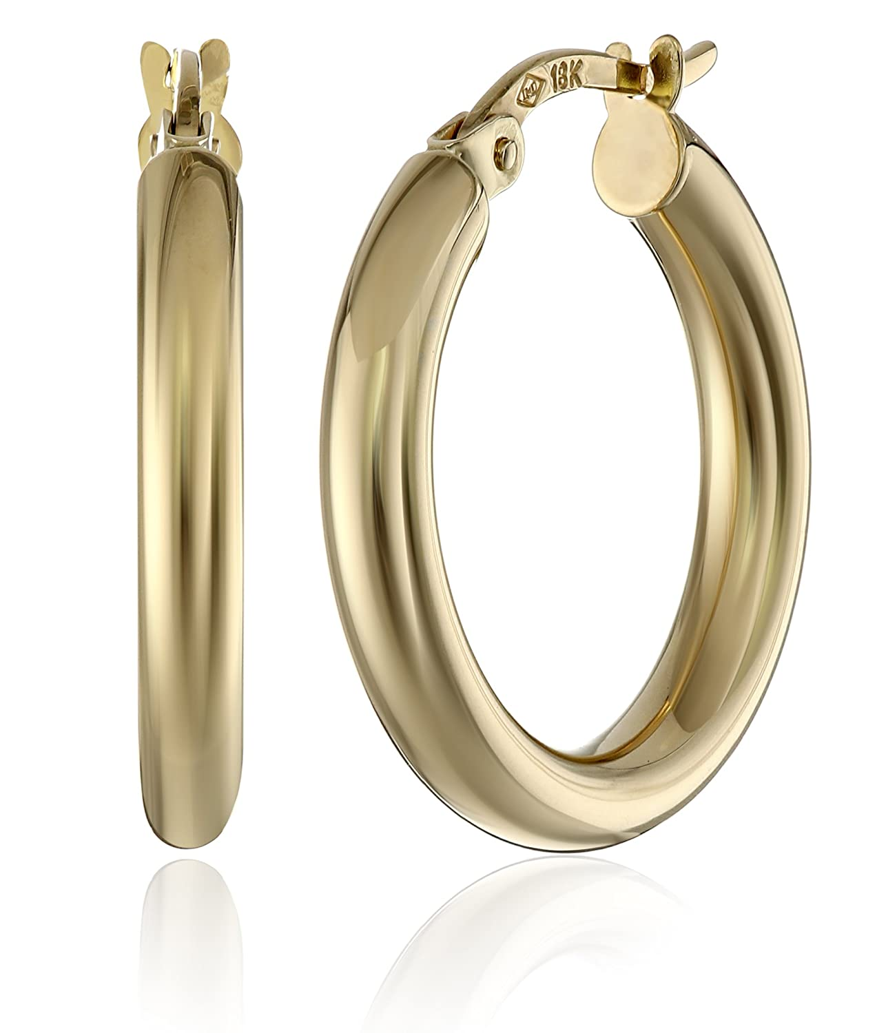 jewellery earrings filled hoops gemstone of hoop products gold k