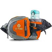 Waist Bag Fanny Pack with Water Bottle Holder for Unisex Hiking Walking Running Lumbar Pack