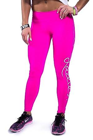 49eea9c276 Ladies Pink Gym Leggings AEST Hetics, Size: L: Amazon.co.uk: Sports ...