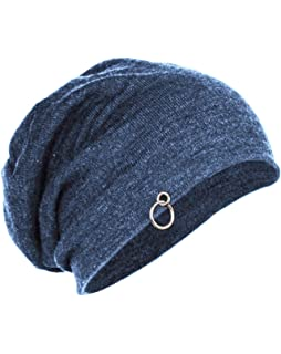 Buy FabSeasons Unisex Cotton Slouchy Beanie and Skull Cap (Black ... 7c748da74eb