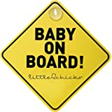 Little Chicks Baby on Board Sign, Child Safety Awareness Warning Decal - Model CK094