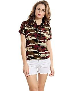 2004c5c2 GLITTHREADS Women's Beautiful Georgette Shirt: Amazon.in: Clothing ...